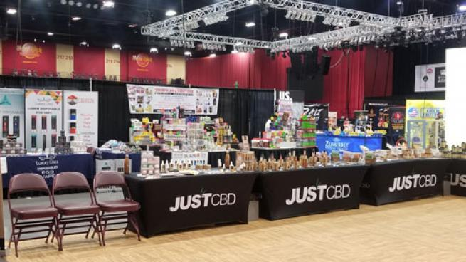 The 2019 HTVA Expo show floor