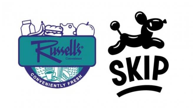 Logos for Russell's Convenience and Skip