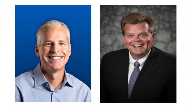 Drew Mize (left) and Rick Brindle take the top two positions on the NACS Supplier Board.