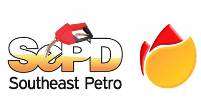 Logos for Southeast Petro Distributors and SCV Oil LLC