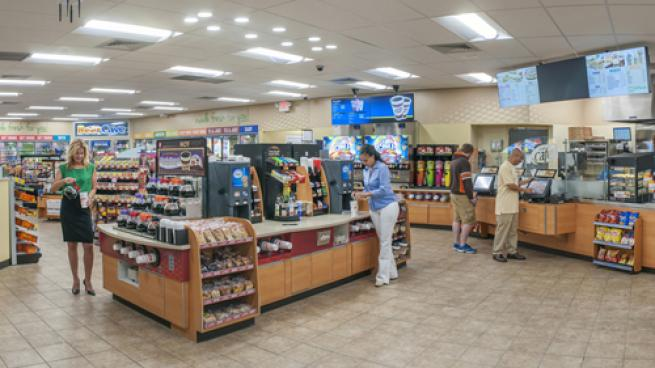 The interior of a Speedway convenience stores