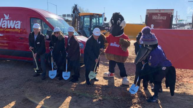 Wawa celebrates groundbreaking ceremony for its newest store in Baltimore located at 4901 Boston St., Baltimore.