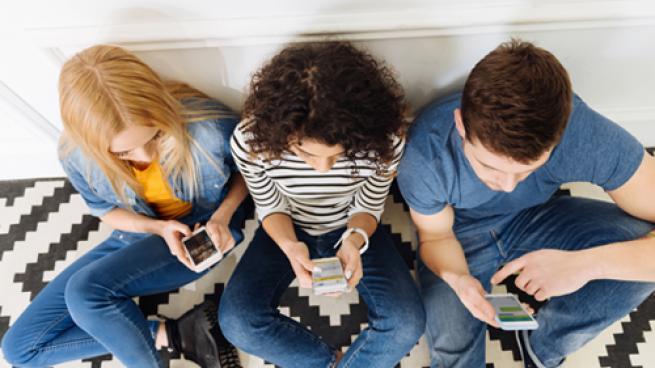 Gen Z on their mobile devices