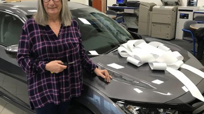 Sandra Bujacich is among five GPM store managers to win a new car.