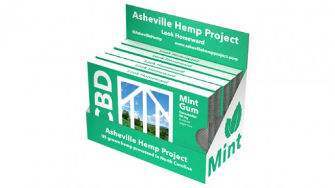Asheville Hemp Project CBD mint gum