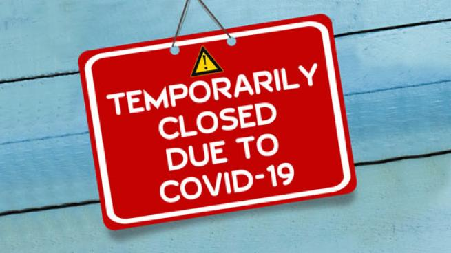 Temporarily closed due to COVID-19 sign