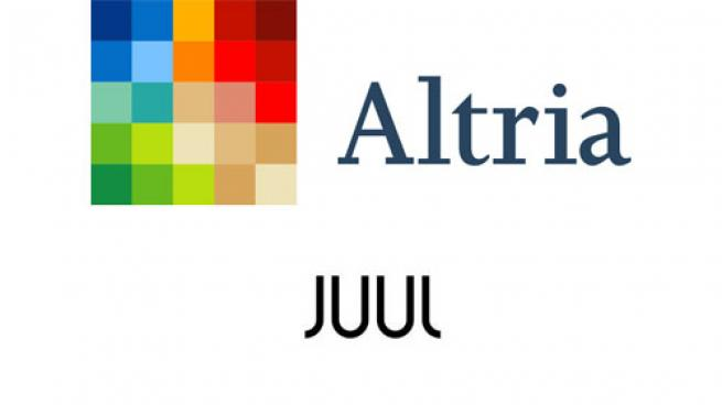 Logos for Altria Group and Juul Labs