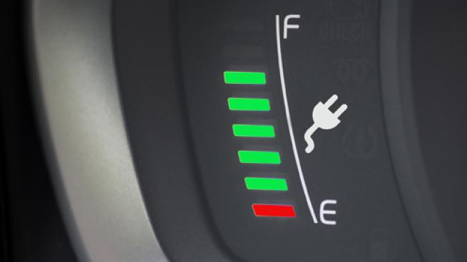 Electric vehicle charging indicator