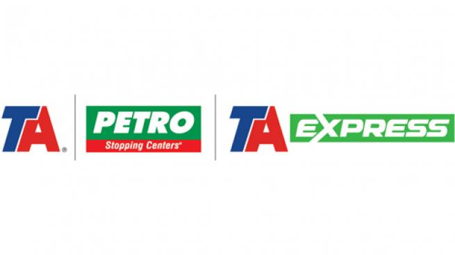 Logos for TravelCenters of America brands