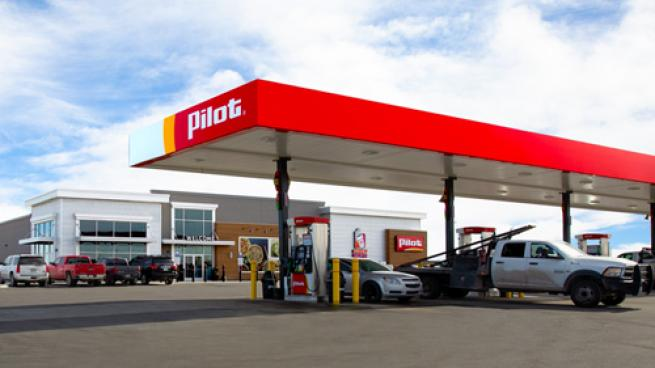 A Pilot travel center