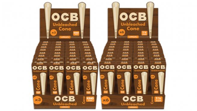 Republic Tobacco OCB Virgin Unbleached Cone Packs