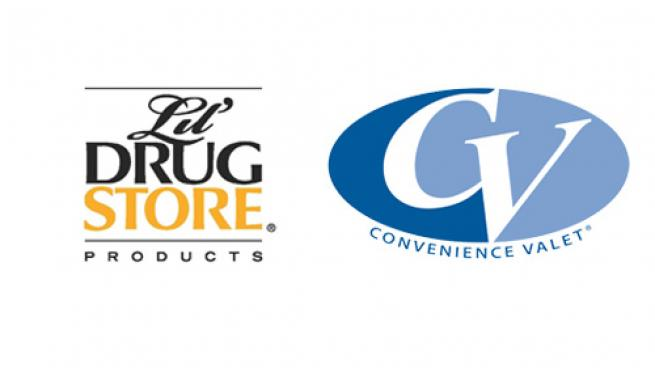 Logos for Convenience Valet and Lil' Drug Store Products