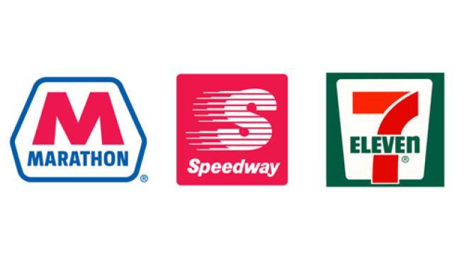 logos for Marathon Petroleum Speedway LLC and 7-Eleven Inc.