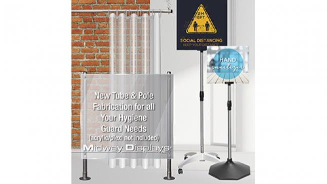 Hygiene Partition Pole Sets
