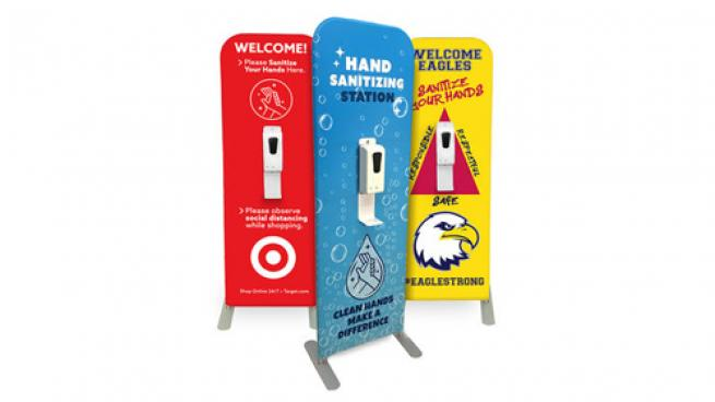 Custom Graphic Hand Sanitizer Dispenser Stand