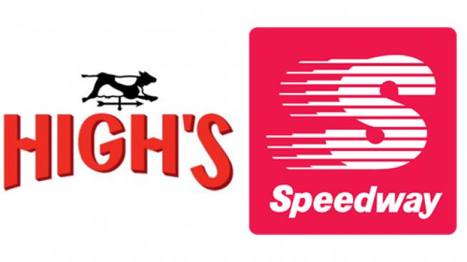 Logos for High's and Speedway