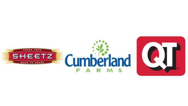 Logos for Sheetz Inc., Cumberland Farms and QuikTrip Corp.
