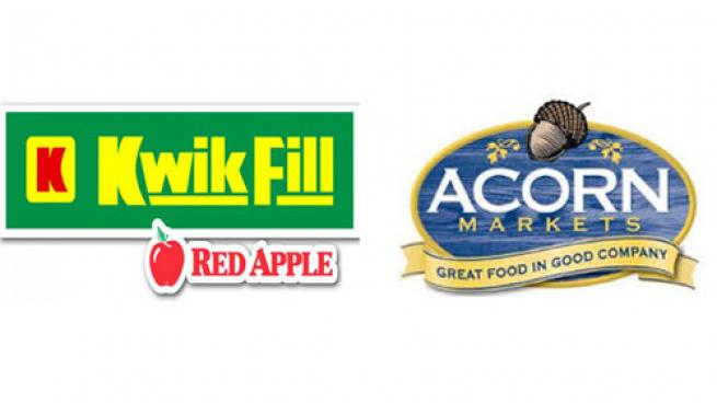 Logos for Kwik Fill and Acorn Markets