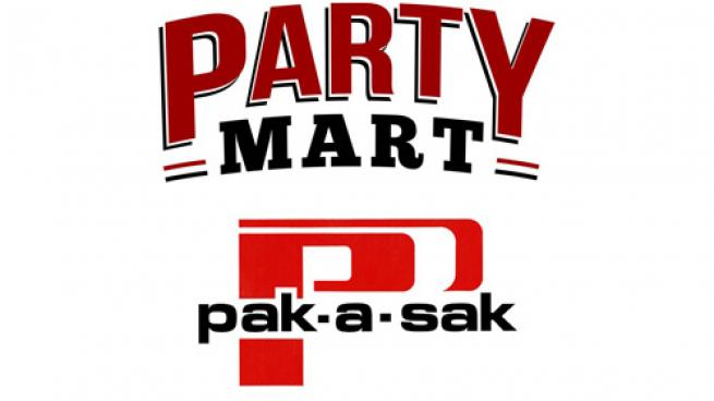 Logos for Party Mart and Pak-a-Sak