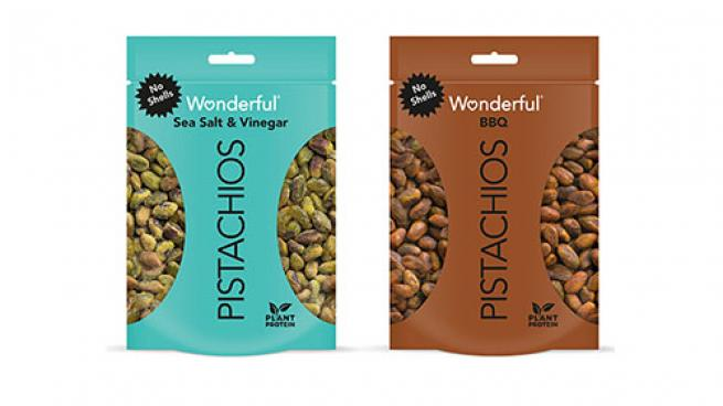 Wonderful Pistachios No Shells BBQ and Sea Salt & Vinegar