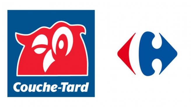 Couche-Tard and Carrefour logos