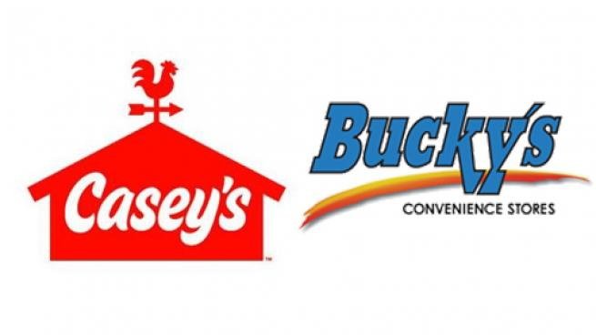 Logos for Casey's General Stores and Bucky's