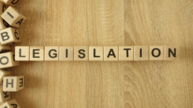 legislation spelled out in tiles