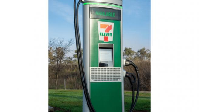 a 7-Eleven Direct Current Fast Charging (DCFC) port