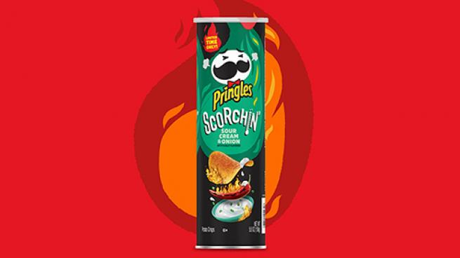 Pringles Scorchin' Sour Cream & Onion