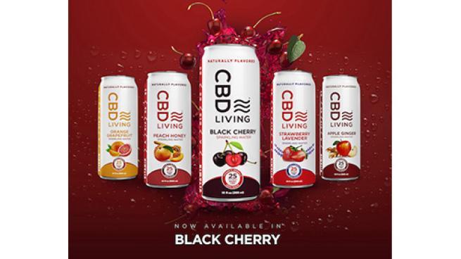 CBD Living Black Cherry Sparkling Water