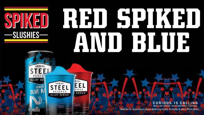 Red, Spiked & Blue Slushies