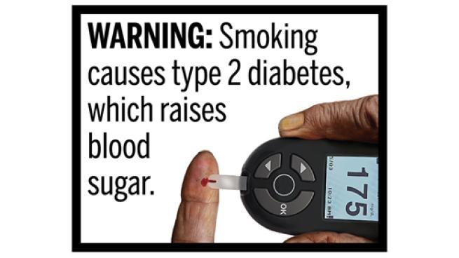 FDA cigarette warning about diabetes