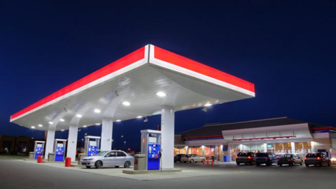 a gas station