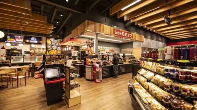Inside a Sheetz convenience store