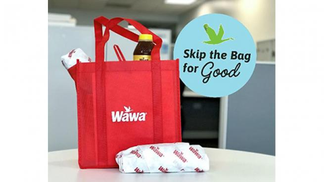 """Wawa's """"Skip the Bag for Good"""" initiative"""