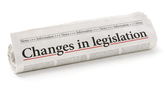 Changes in legislation headline