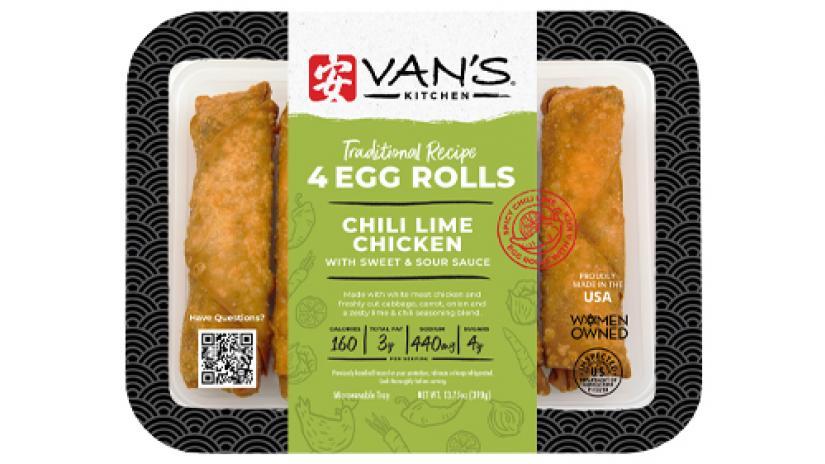 Van's Kitchen Chili Lime Chicken Egg Rolls