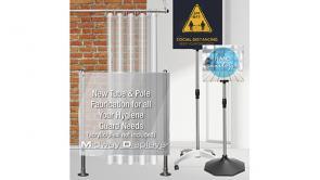 Hygiene Partition Pole Sets