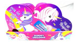 Unicorn Gummies Heart Boxes
