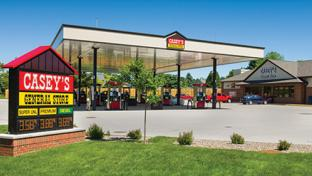The exterior of a Casey's General Stores location