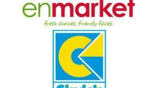 The logos for enmarket and Clyde's Market Inc.