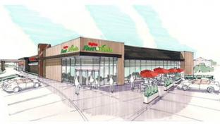 A rendering of a Hy-Vee Fast & Fresh convenience store