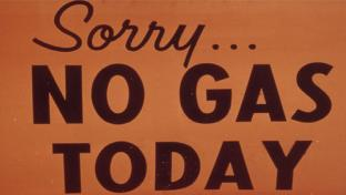 no gas sign