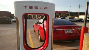 Tesla charger at Sheetz location