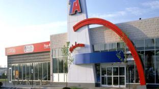 The exterior of a TA travel center