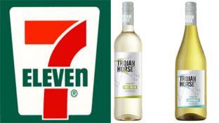 7-Eleven Trojan Horse white wines
