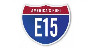 An alternative fuel E15 highway sign