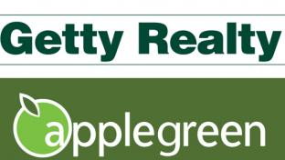 The logos for Getty Realty and Applegreen plc