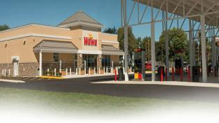 The exterior of a Wawa convenience store