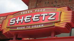 Exterior signage of a Sheetz convenience store